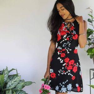 Dresses & Skirts - RUFFLE NECK DRESS|FLORAL DRESS|SHIFT DRESS